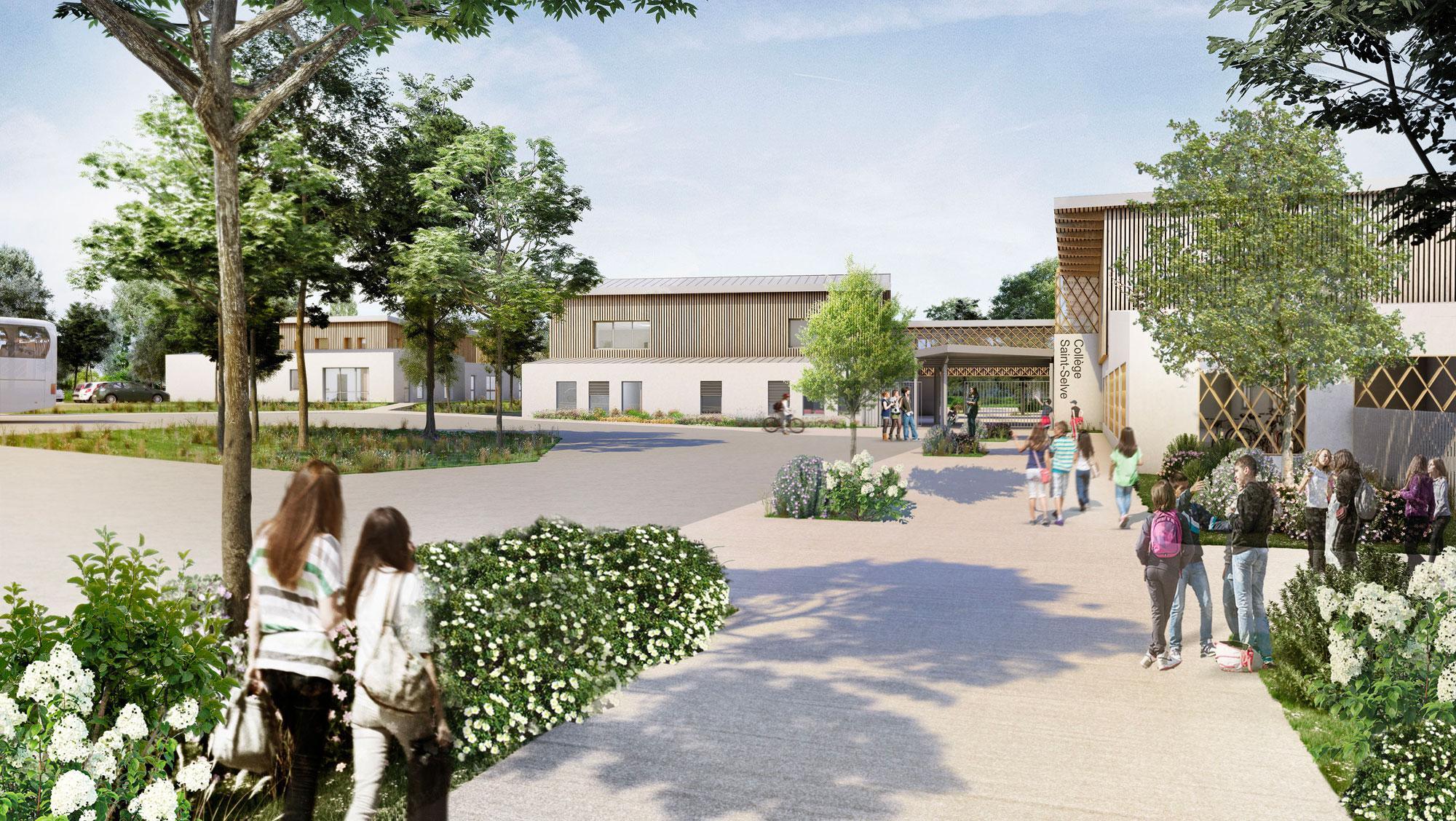 Collège neuf de 700 élèves – Saint-Selve (33)